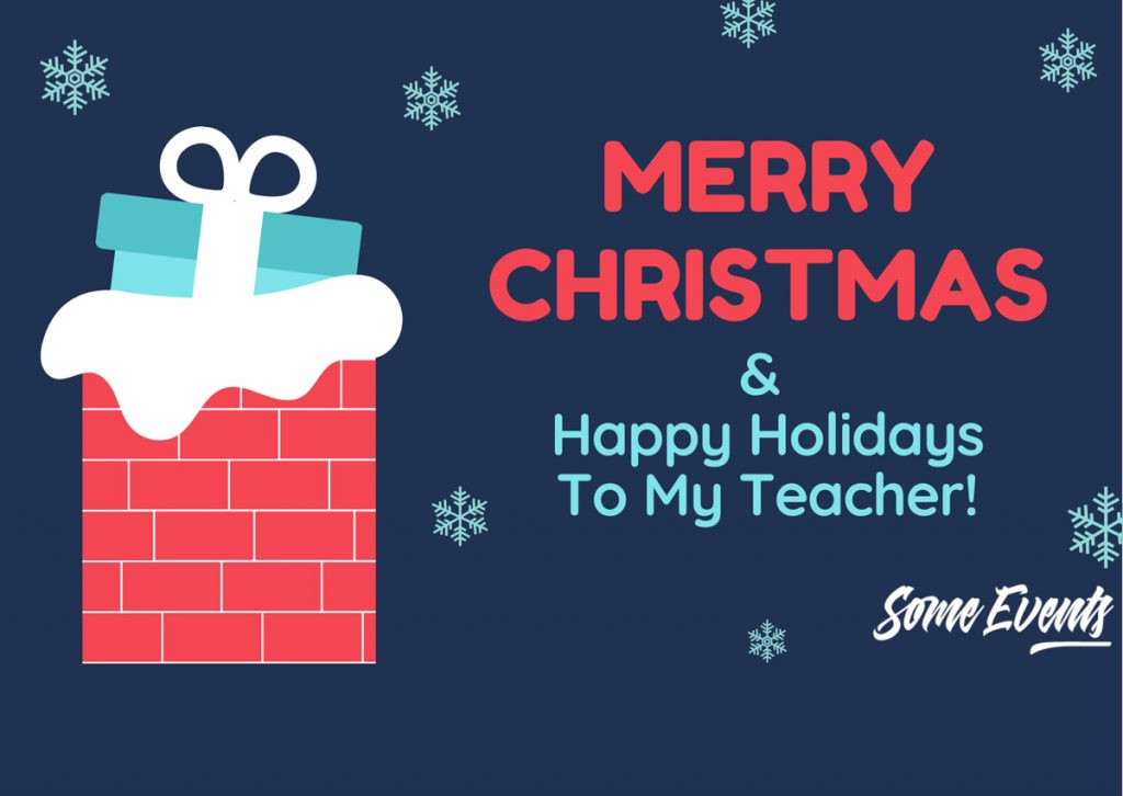 Christmas Wishes to Teachers