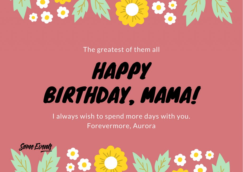 Birthday Wishes for My Mother