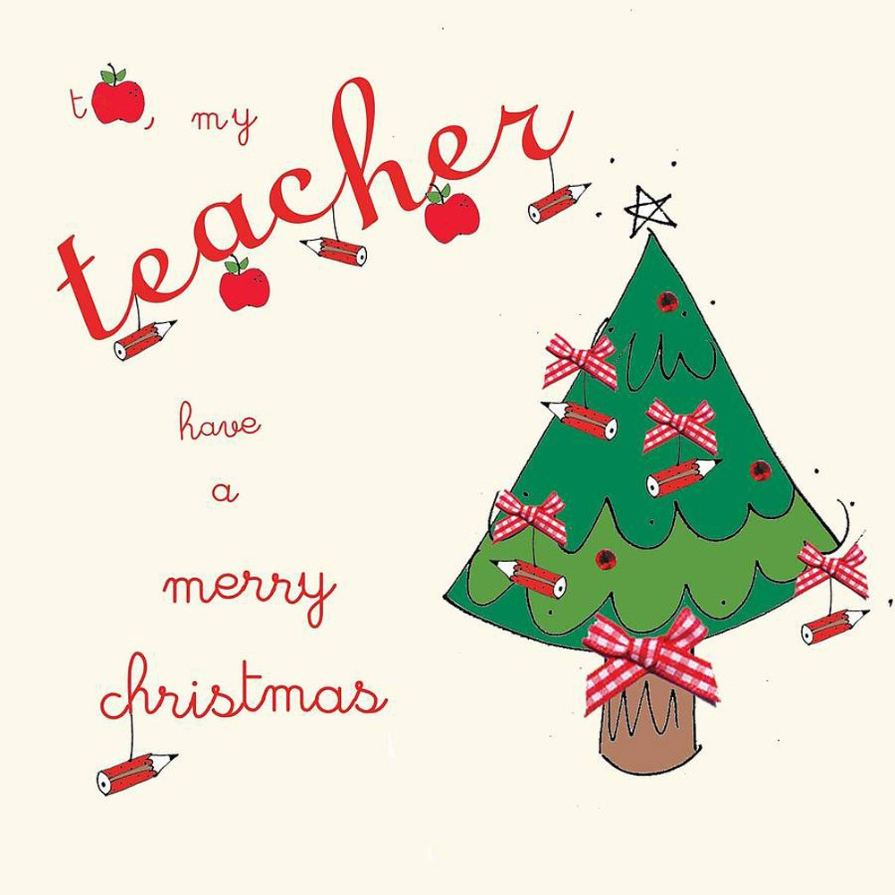 Christmas Card for a Teacher
