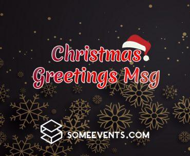 Christmas Greetings Msg
