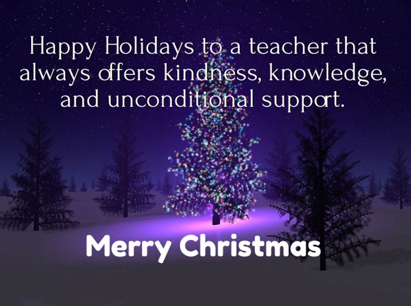 Merry Christmas Teacher Quotes.40 Christmas Message For Teachers To Make Them Happy Some