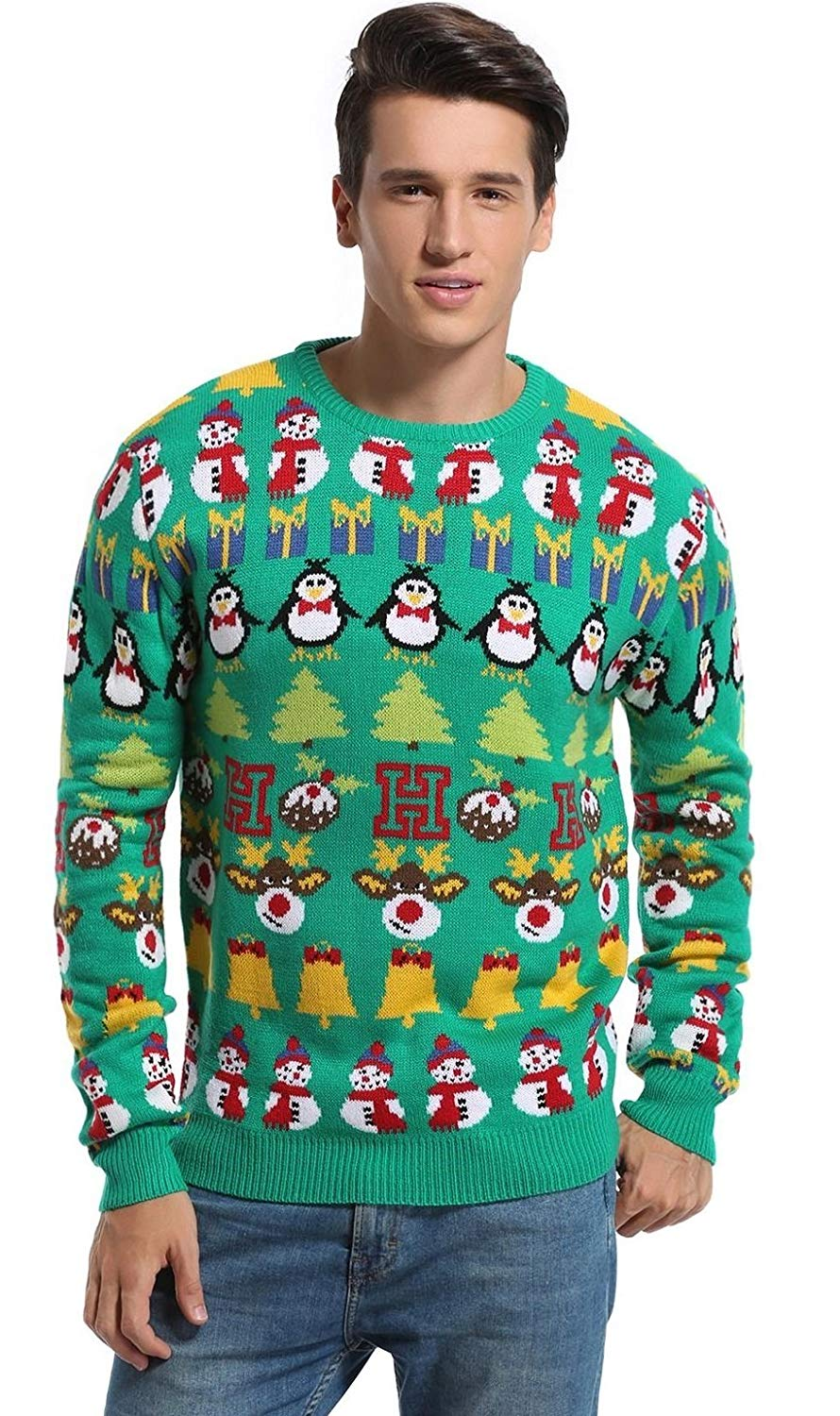 Christmas Decorations Stripes Sweater Cute Ugly Pullover