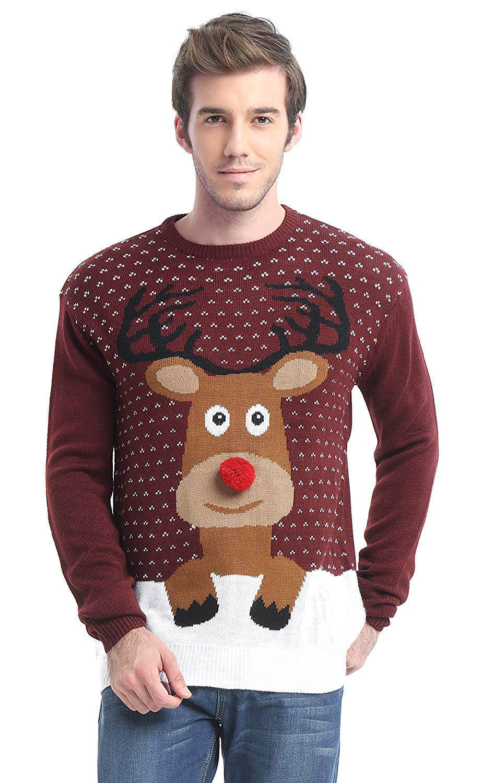 Christmas jumpers Men's Snowman Santa Snowflakes Sweater