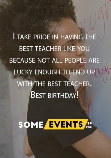 Having the Best teacher